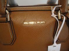 MICHAEL KORS MERCER MEDIUM DUFFLE SATCHEL LUGGAGE BROWN LEATHER MK BAG $298 $139.99