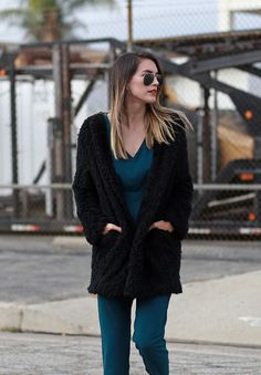 From fur to shag, I'm loving fun textures in coats and sweaters. I paired this piece with a jumpsuit for an easy day to night look. Wearing: No Rest for Bridget jacket, Forever 21 jumpsuit, Jeffrey Campbell loafers