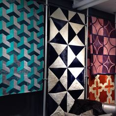 Geometric leather designs #whistlerleather #dcch #designcentrechelseaharbour * Real Pattern * The Inner Interiorista