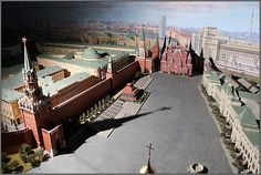 Moscow city for sale for 3 Million Euros. Obviously a miniature version not the real thing.