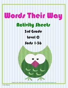 These activity sheets were created to be used for extra practice on word sorts 1-36 of the 3rd grade (level C) Words Their Way program.