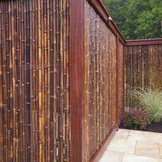 Bamboo fence - for a tropical garden Bamboo Privacy Fence, Backyard Privacy, Backyard Fences, Fenced In Yard, Garden Privacy, Privacy Fences, Pool Fence, Garden Fencing, Privacy Screens