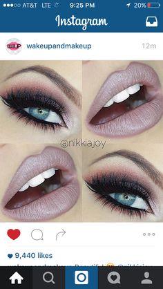 Mauve lips and smokey eye, love!