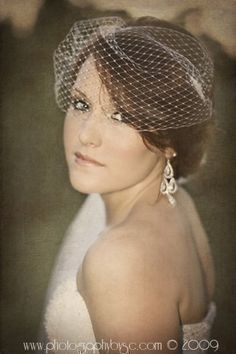 Bandeau Wedding Veil Seen on Style Me by FascinatingCreations, $29.95
