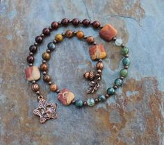 Spirit of Trees Pagan Prayer Beads Nature by IndigoDesertMoon