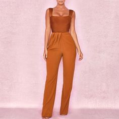Load image into Gallery viewer, & Tan Drape Front Trousers - Boomah House Of Cb, Outfits Mujer, Blush Dresses, Crepe Fabric, Purple Dress, Formal Wear, Dress To Impress, Trousers, Fashion Outfits