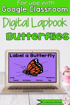 Your students will love learning about butterflies with this digital interactive notebook using Google Slides! This is a fun, interactive, digital activity that can be incorporated into your science lessons using Google Classrooms. This is a great hands-on way to teach kids about caterpillars, butterflies, & more. These activities for Kindergarten, 1st, & 2nd Grade Elementary kids include label, life cycle, matching, graphic organizers & more. Science Lessons, Science Activities, Kindergarten Blogs, 1st Grade Science, Teacher Organization, Google Classroom, Interactive Notebooks, Graphic Organizers, Teaching Kids