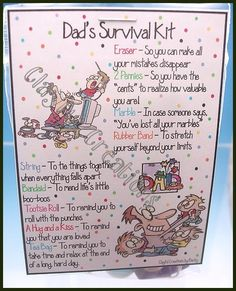 DAD's Survival Kit  Becky's This and That by clayfulcreations - cute Father's Day idea