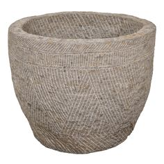 Antique Carved Stone Farm Bowl