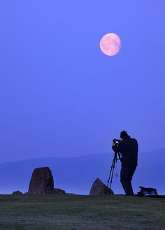 Captured just before sunrise the gibbous moon descends behind the ancient stones of Castlerigg near Keswick in England. This is one of the most visually impressive prehistoric monuments in Britain and is the most visited stone circle in Cumbria. One can only wonder what part the celestial bodies played in the pagan ceremonies and rituals that have taken place here.
