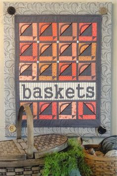 """""""Baskets"""" quilt pattern at Joined at the Hip"""