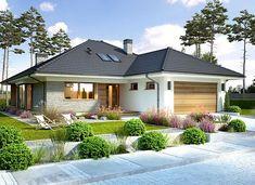 Piwonia - zdjęcie 2 Beautiful House Plans, Simple House Plans, My House Plans, House Floor Plans, Minimal House Design, Minimal Home, Modern Bungalow House, Bungalow House Plans, House Layout Plans