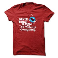Large selection of funny science tees in regular and plus sizes.