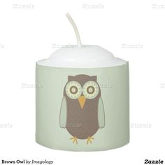 When the sun goes down the lights don't have to go out thanks to Zazzle's candles. Shop our great designs for yourself or to give as gifts! Cartoon Owl Images, Owl Cartoon, Cute Cartoon, Votive Candles, Owls, Candle Holders, Brown, Gifts, Presents