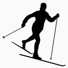 Le Journal de Chrys: Nos skieurs Silhouette Images, Silhouette Vector, Ski Drawing, Theme Sport, Sports Quilts, Middle School Art Projects, Ski Decor, Cross Country Skiing, Window Art