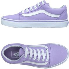 Vans Sneakers (12.450 HUF) ❤ liked on Polyvore featuring shoes, sneakers, vans, zapatos, lilac, logo shoes, vans trainers, vans shoes, flat footwear and round cap