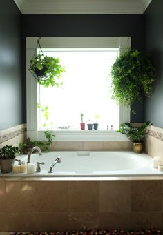 A Master Bathroom Update Embraces the Dark Side (Before and After) -design addict mom
