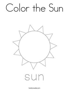 Color the Sun Coloring Page - Twisty Noodle Letter B Activities, Rainbow Activities, Sensory Activities Toddlers, Preschool Themes, Preschool Learning, Art Activities, Preschool Crafts, Sun Coloring Pages, Project Based Learning