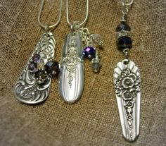 re-purposed  spoon handles for jewelry