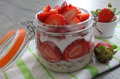 Strawberry Cheese Cake Overnigt Oats :)
