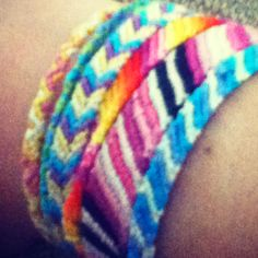 Homemade friendship bracelets! Re-pin and comment if you want one :)