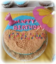 Beach birthday cake I could do this