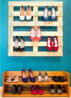 Meubles chaussures palettes - Meuble chaussure en palette ...