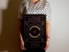 Love You 11x17 Graphic Print on Etsy $19.00
