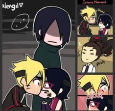 Sasuke saw that coming XD He'll forever remember that his first kiss came from Naruto XD XD XD XD Anime Naruto, Naruto Fan Art, Manga Anime, Naruto Family, Boruto Naruto Next Generations, Naruto Girls, Naruto Images, Naruto Pictures, Sarada Uchiha