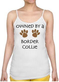 Köpekli - Owned By a Border Collie Kendin Tasarla - İnce Askılı Bayan Atlet