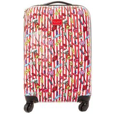 Betsey Johnson World Traveling Roller Luggage Handbag (475 BRL) ❤ liked on Polyvore featuring bags and luggage