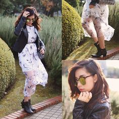 Get this look: http://lb.nu/look/7964538  More looks by Mizuho K: http://lb.nu/xoxohilamee  Items in this look:  Choies Floral Dress, Zero Uv Sunglasses   #chic #romantic #street