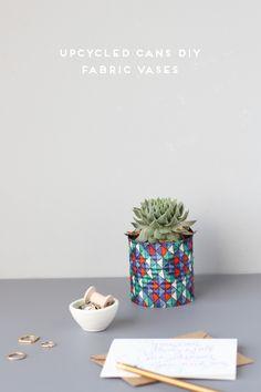 Adictaaloscomplementos: Diy, tutorial: como hacer macetas y jarrones con latas recicladas y telas