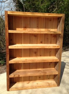 Reclaimed Cedar Bookcase by a2xdesigns on Etsy, $350.00