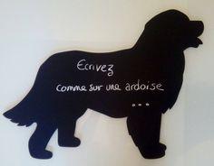 Mémo bouvier bernois ardoise silhouette bois peinture de la boutique dessinemoiuneardoise sur Etsy