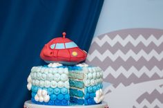 Fun cake at a Little Einsteins Party.  See more party ideas at CatchMyParty.com.  #littleeinsteins #partyideas