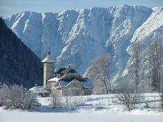 Grundlsee, Austria in Winter