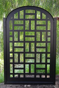 Metal Gate Contemporary Pedestrian Walk Thru Entry Cut Art Modern Iron Garden
