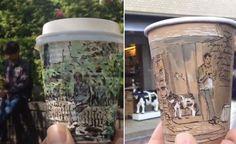 Next level coffee art.