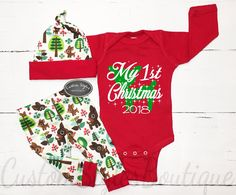 cfb62cff4 Baby s   Infant s First Christmas Pajamas