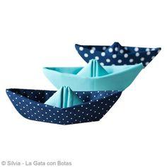 DIY Origami facile bateau en tissu - Fiche technique Origami pas à pas, idées et conseils loisirs créatifs - Creavea