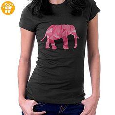 Geometric Animal Pink Elephant Women's T-Shirt - T-Shirts mit Spruch | Lustige und coole T-Shirts | Funny T-Shirts (*Partner-Link)