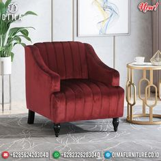 Jual Sofa Minimalis Modern Unique Style New Normal Edition BT-0734 Grey Chair, Club Chairs, Home Furnishings, Dark Brown, Accent Chairs, Upholstery, Velvet, Sofa, Retro