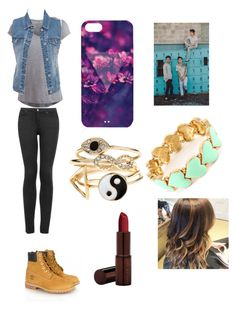 """""""With carter, Nash and Cameron"""" by leila-hussain ❤ liked on Polyvore featuring Pieces, Topshop, Timberland, maurices, Accessorize and Fashion Fair"""