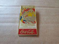 1920 Antwerp Olympic Games Pin Badge - Belgium - Coca Cola