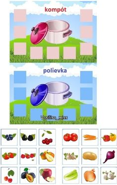 Hra s kartičkami. Čo patrí do polievky a čo do kompótu Educational Activities For Kids, Montessori Activities, Infant Activities, Educational Technology, Kids Education, Special Education, Teaching Kids, Kids Learning, Vegetable Crafts