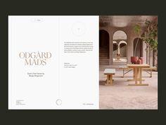 Børge Mogensen—Home Furnishing designed by Hrvoje Grubisic. Website Design Inspiration, Website Design Layout, Book Design Layout, Web Layout, Website Designs, Minimal Web Design, Graphic Design, Luxury Website, Modern Website