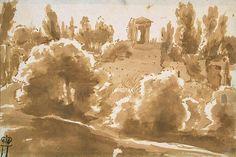 Landscape with a Portico - Nicolas Poussin - Hermitage Museum