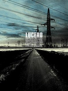 GigPosters.com - Lucero - Rocky Votolato - William Elliot Whitmore ::: Poster by Aesthetic Apparatus ::: www.dutchuncle.co.uk