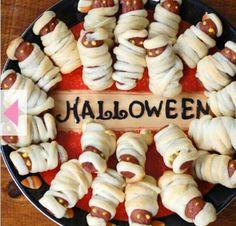 grilla pinnbröd korv halloween ata duka